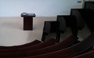 Medienpult faircom college im Hörsaal der Chirurgie des Universitätsklinikum Düsseldorf