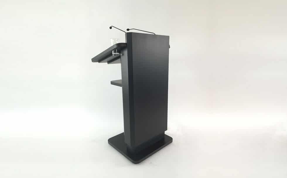 Höhenverstellbares Rednerpult mit Lampe