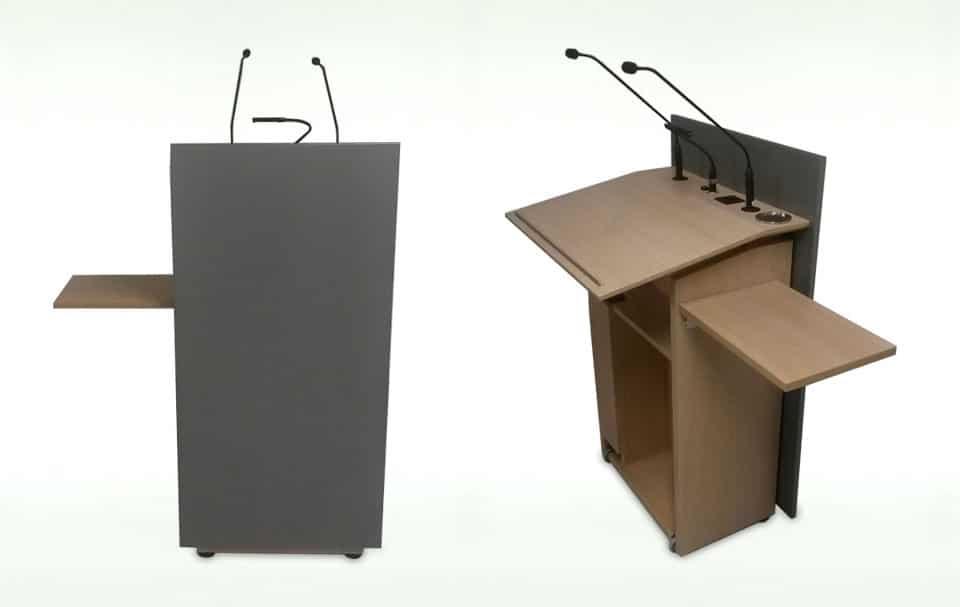 Rednerpulte in unterschiedlichen Ausführungen