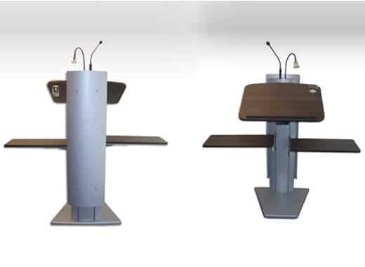 Rednerpulte mit Holz-Dekor