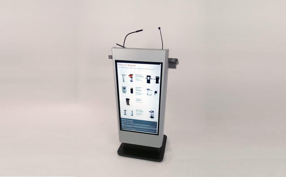 rednerpult mit integriertem monitor