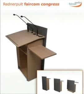 Datenblatt zum Rednerpult faircom congress