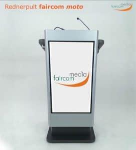 Datenblatt zum Rednerpult faircom MOTO mit LCD-Display