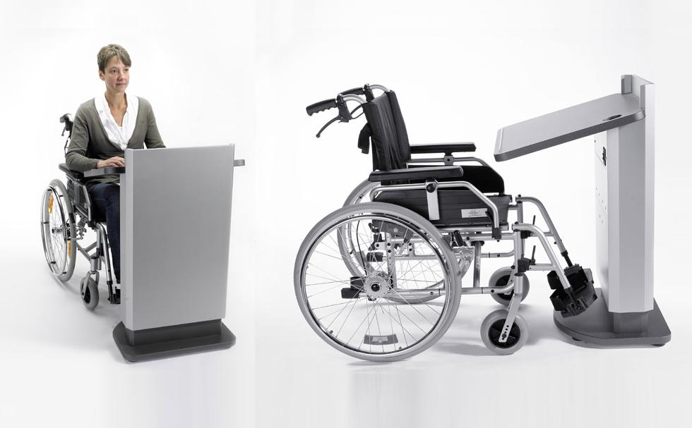 Rednerpult für Rollstuhlfahrer