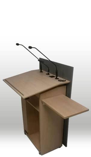 Rednerpult faircom congress