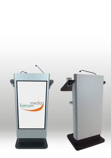 Elektrisch hoehenvestellbares Rednerpult