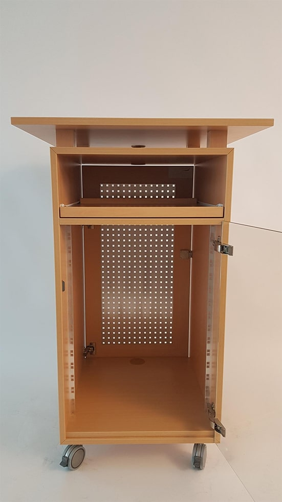 medienrack spezial rednerpult faircom. Black Bedroom Furniture Sets. Home Design Ideas
